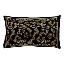 Cute Black antique gold Pillow Case