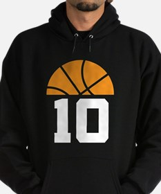 Basketball Number 10 Player Gift Hoodie