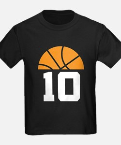Basketball Number 10 Player Gift T