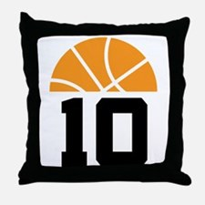 Basketball Number 10 Player Gift Throw Pillow