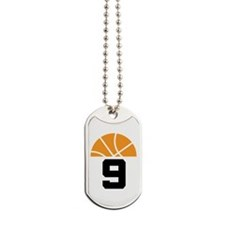 Basketball Number 9 Player Gift Dog Tags