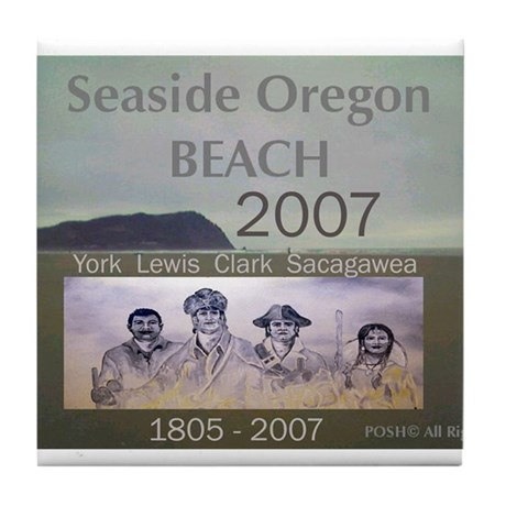 Lewis and Clark collectors Wi Tile Coaster