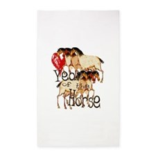 Love the Year of the Horse 3'x5' Area Rug