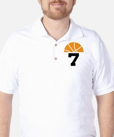 Basketball Number 7 Player Gift T-Shirt