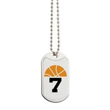 Basketball Number 7 Player Gift Dog Tags