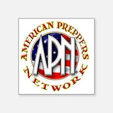 "American Preppers Network B Square Sticker 3"" x 3"""