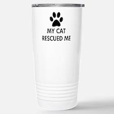 My Cat Rescued Me Travel Mug