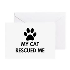 My Cat Rescued Me Greeting Card