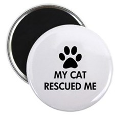 My Cat Rescued Me Magnet