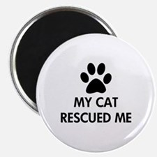 """My Cat Rescued Me 2.25"""" Magnet (10 pack)"""
