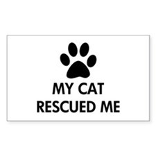 My Cat Rescued Me Decal