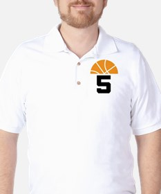 Basketball Number 5 Player Gift T-Shirt