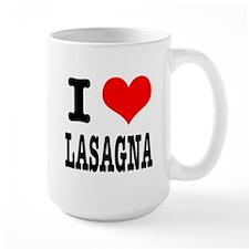 I Heart (Love) Lasagna Mug
