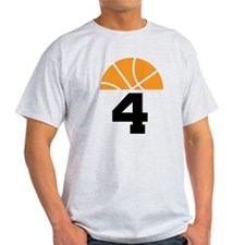 Basketball Number 4 Player Gift T-Shirt