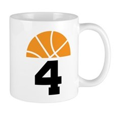 Basketball Number 4 Player Gift Mug
