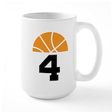 Basketball Number 4 Player Gift Mug