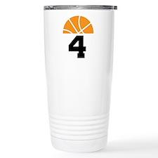 Basketball Number 4 Player Gift Travel Mug