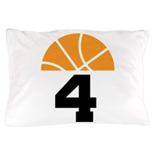 Basketball Number 4 Player Gift Pillow Case