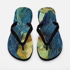 Vincent Van Gogh - Self-Portrait Flip Flops