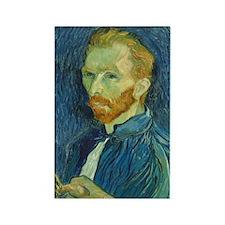 Vincent Van Gogh - Self-Portrait Rectangle Magnet