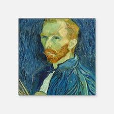"Vincent Van Gogh - Self-Por Square Sticker 3"" x 3"""