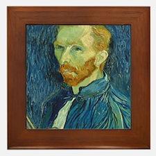 Vincent Van Gogh - Self-Portrait Framed Tile