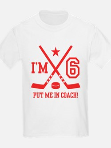 6 Year Old Hockey T-Shirt