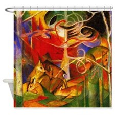 Cute Fauvist painting Shower Curtain