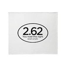 2.62 Marathon Oval Sticker Throw Blanket