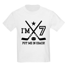 7 Year Old Hockey T-Shirt