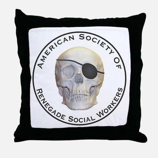 Renegade Social Workers Throw Pillow