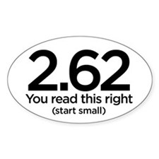 2.62 Marathon Oval Decal Decal