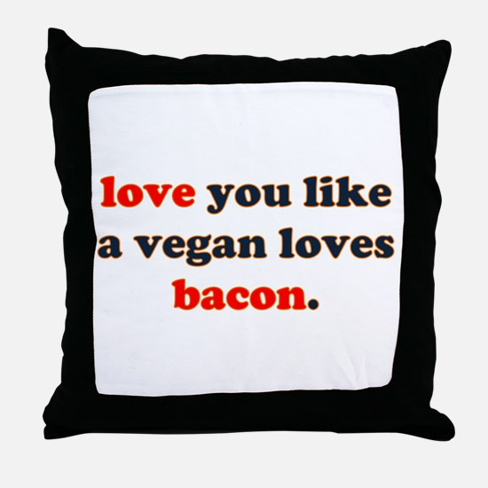 Vegan Bacon Throw Pillow