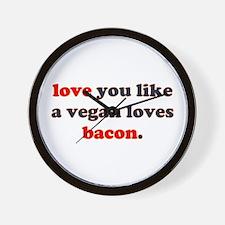 Vegan Bacon Wall Clock
