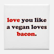 Vegan Bacon Tile Coaster