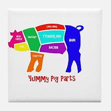 Yummy Pig Parts Tile Coaster