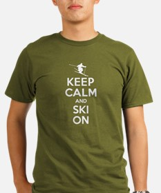 Keep Calm and Ski On T-Shirt