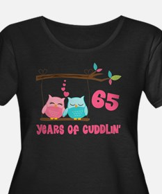 65th Anniversary Owl Couple Plus Size T-Shirt