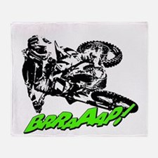 bike 2 brap Throw Blanket