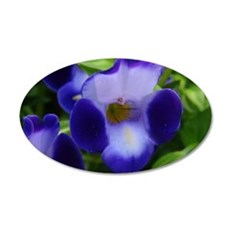 Violet Flower 35x21 Oval Wall Decal