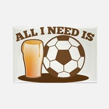 All I need is football and beer Rectangle Magnet