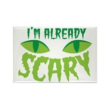 I'm already SCARY with cats eyes Rectangle Magnet