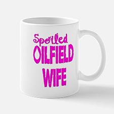 Spoiled Oilfield Wife Pink Mugs
