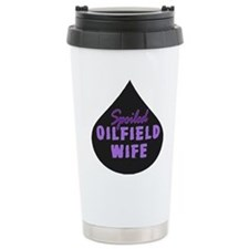 Spoiled Oilfield Wife Oil Drop Purple Travel Mug