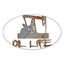 Oil Life Pumpjack Rusty Metal Decal