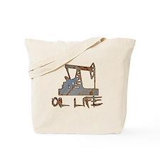 Oil Life Pumpjack Rusty Metal Tote Bag
