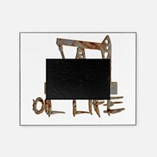 Oil Life Pumpjack Rusty Metal Picture Frame