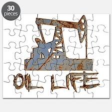 Oil Life Pumpjack Rusty Metal Puzzle