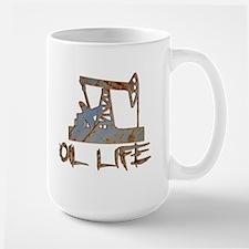 Oil Life Pumpjack Rusty Metal Mugs