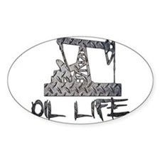 Diamond Plate Oil Life Pumpjack Decal